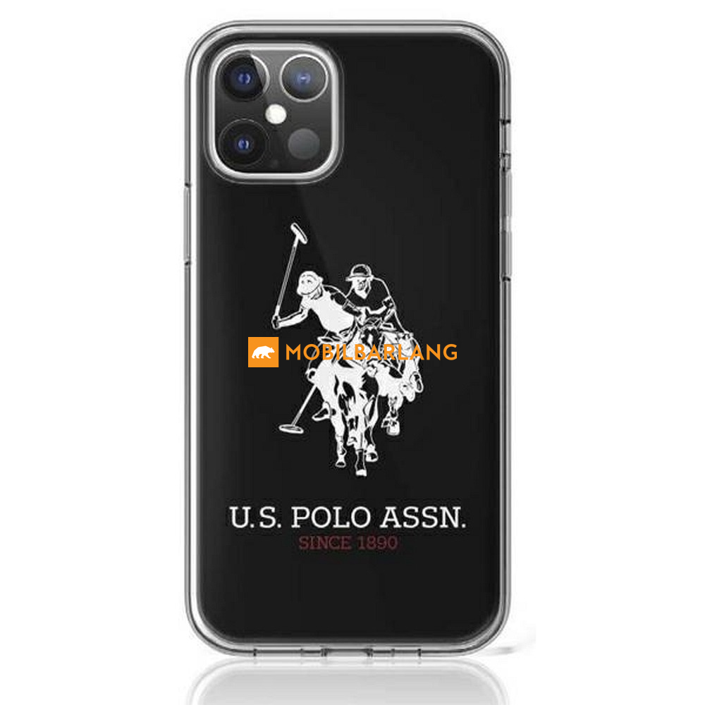 iPhone 12 Mini U.S. Polo Assn. hátlapi tok fekete