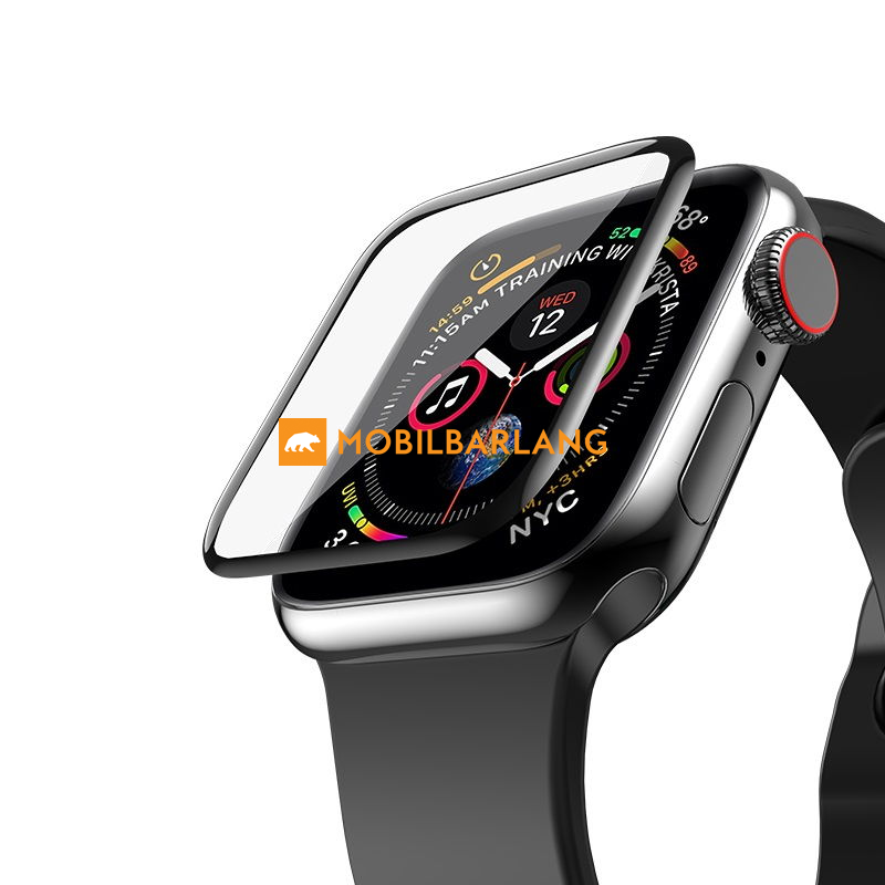 Apple watch 4/5 44mm 3D üvegfólia fekete
